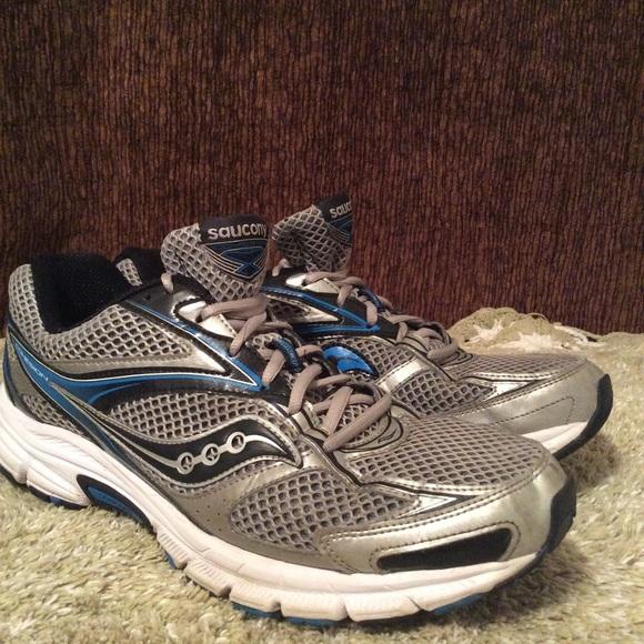 Saucony Men's Running Shoe Gray Blue Sz 13